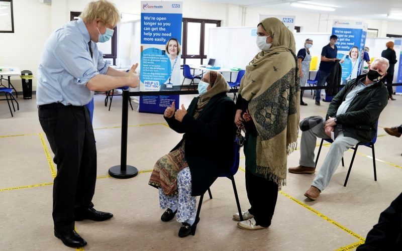 COVID CONCERN: Boris Johnson at a vaccination centre in West Yorkshire earlier this month. (Image - Eastern Eye)